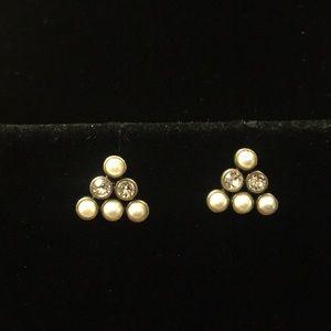 Pyramid Pearl Earrings